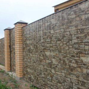 Забор профлист под камень
