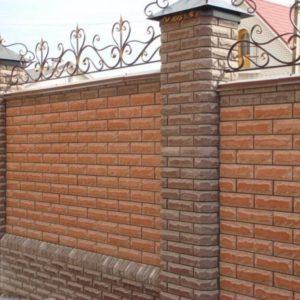 Забор профлист под кирпич
